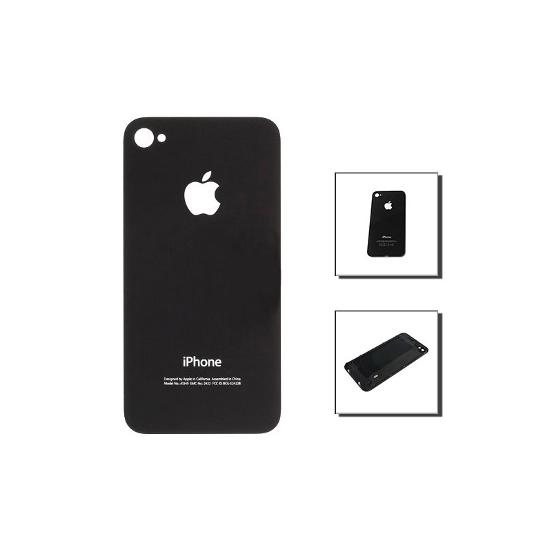 iPhone 4 πίσω κάλυμμα μαύρο / rear cover black