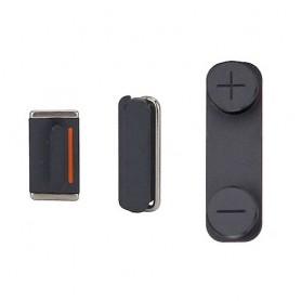 iPhone 5 σετ εξωτερικά κουμπιά πλήκτρα μαύρα / button black
