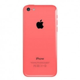 iPhone 5c πίσω όψη ροζ με τυπωμένα γράμματα / rear cover pink with letters