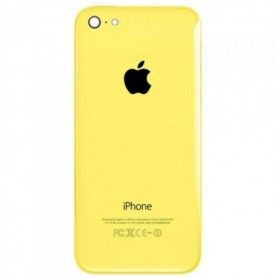 iPhone 5c πίσω όψη κίτρινη με τυπωμένα γράμματα / rear cover yellow with letters
