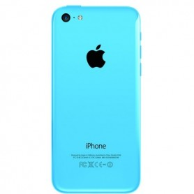 iPhone 5c πίσω όψη μπλε με τυπωμένα γράμματα / rear cover blue with letters