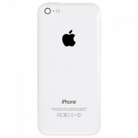 iPhone 5c πίσω όψη λευκή με τυπωμένα γράμματα / rear cover white with letters