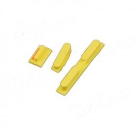 iPhone 5c κουμπιά λειτουργίας αυξομείωσης ήχου & σίγασης κίτρινα / power volume silent button set yellow
