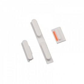 iPhone 5c κουμπιά λειτουργίας αυξομείωσης ήχου & σίγασης λευκά / power volume silent button set white