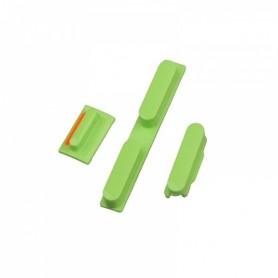 iPhone 5c κουμπιά λειτουργίας αυξομείωσης ήχου & σίγασης πράσινα / power volume silent button set green