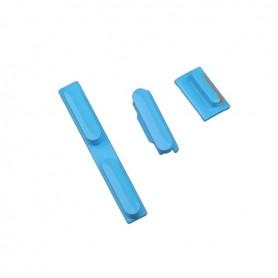 iPhone 5c κουμπιά λειτουργίας αυξομείωσης ήχου & σίγασης μπλε / power volume silent button set blue
