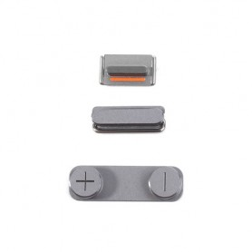 iPhone 5s σετ πλήκτρων, κουμπιά λειτουργίας αυξομείωσης ήχου & σίγασης γκρι / power volume silent button space grey