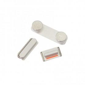 iPhone 5s σετ πλήκτρων, κουμπιά λειτουργίας αυξομείωσης ήχου & σίγασης ασημί / power volume silent button silver