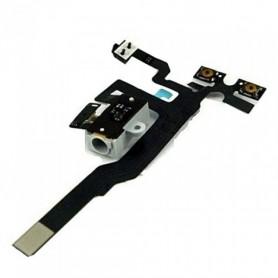 iPhone 4s καλωδιοταινία ακουστικών λευκή / jack cable white